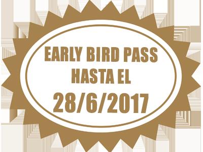 Early Bird Pass hasta el 28/6/17